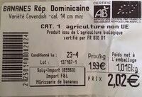 Bananes - Ingrediënten - fr