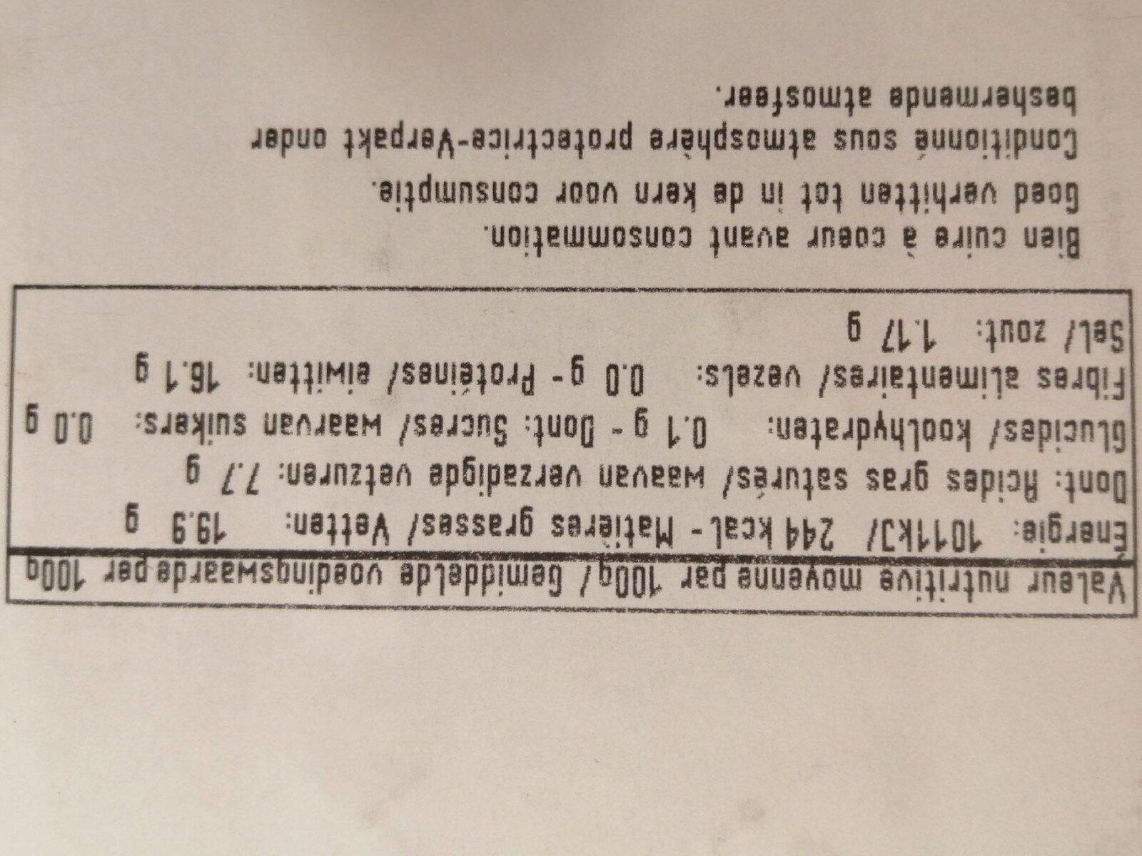 Chipolata Biologique - Voedingswaarden