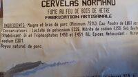 Cervelas normand - Ingrédients - fr