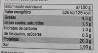 jamon cocido ahumado - Nutrition facts