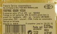 Gouda vieux - Ingrediënten - fr