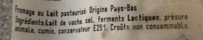Gouda au cumin - Ingrédients - fr
