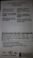 Saucisse chipolata campagne bio - Informations nutritionnelles - fr