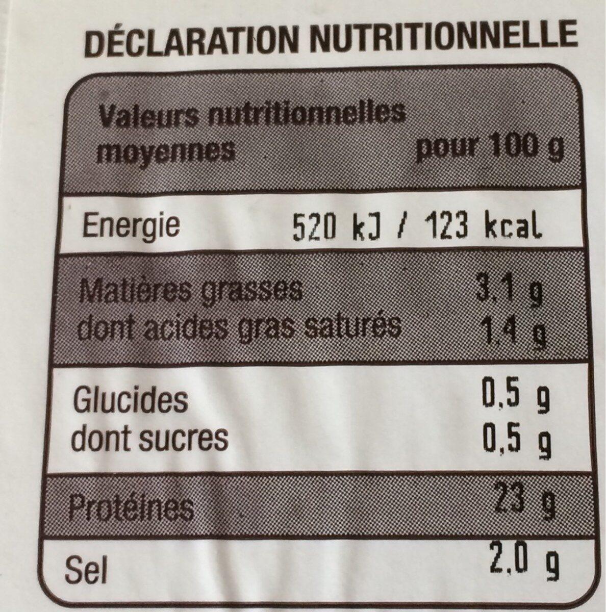 Jambon à l'ancienne - Voedingswaarden - fr