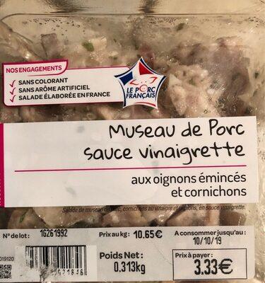 Museau de porc sauce vinaigrette - Product