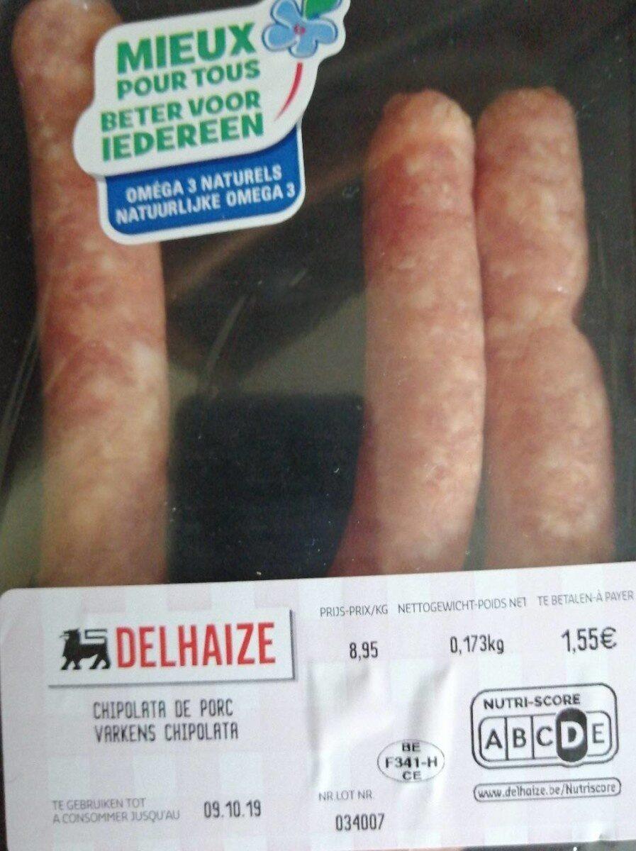Chipolata de porc - Produit - fr