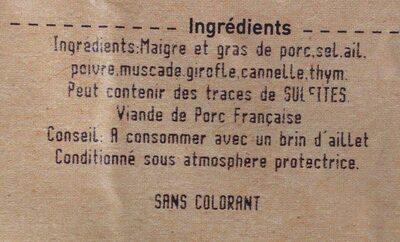 Grillon charentais tranché - Ingredients - fr