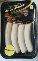 Saucisses blanches au fromage - Product - fr