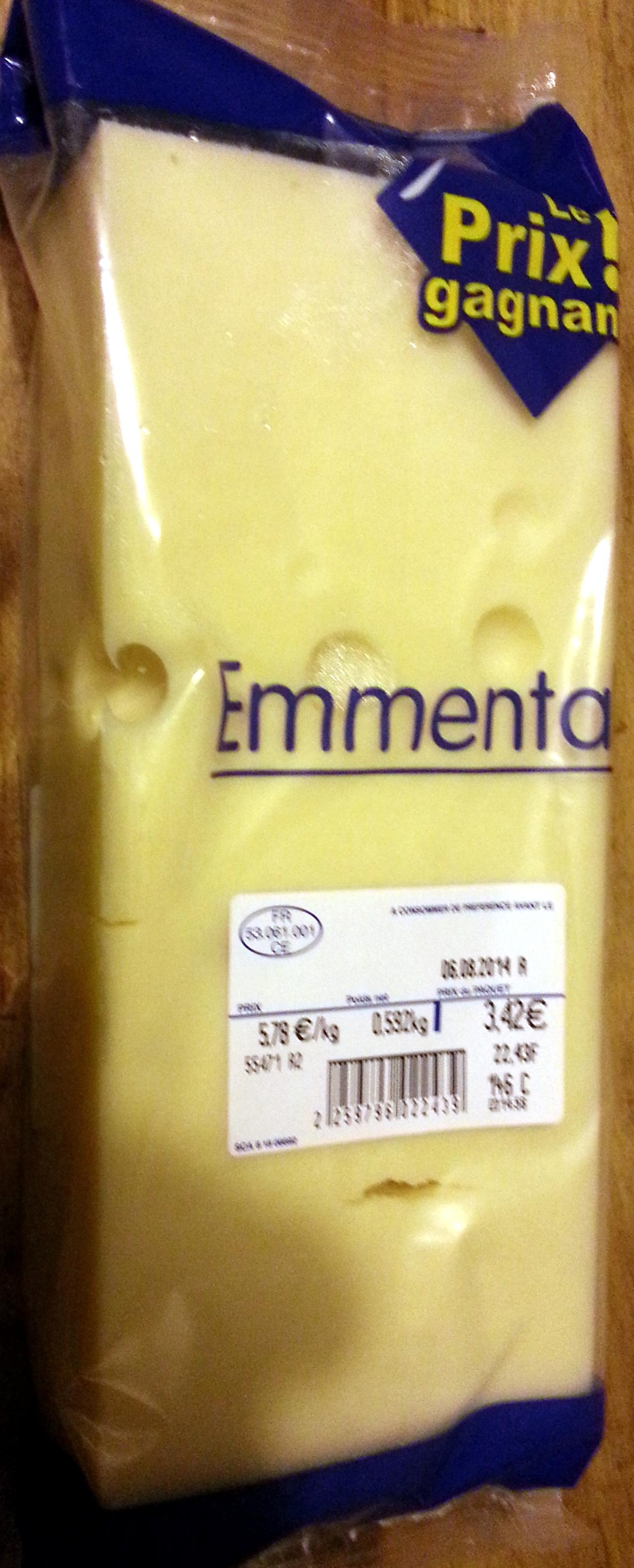 Emmental (28 % MG) - Produit - fr