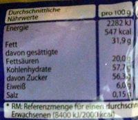 Schokokugeln - Nutrition facts - de