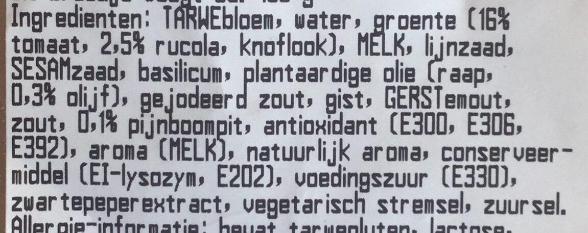 VBB Mozzarella Tom zr - Ingrediënten - nl