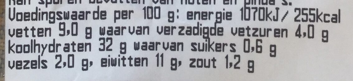 VBB Mozzarella Tom zr - Voedingswaarden - nl