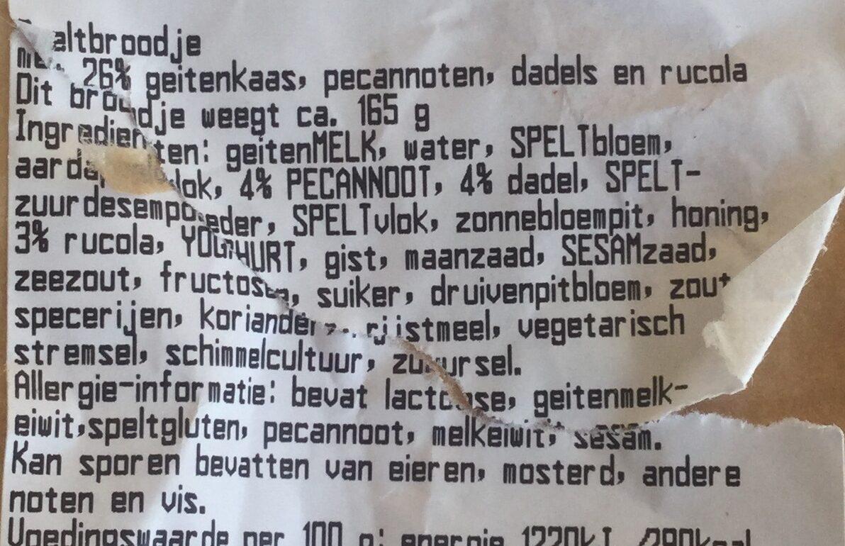 Geitenkaas - Ingredients - nl