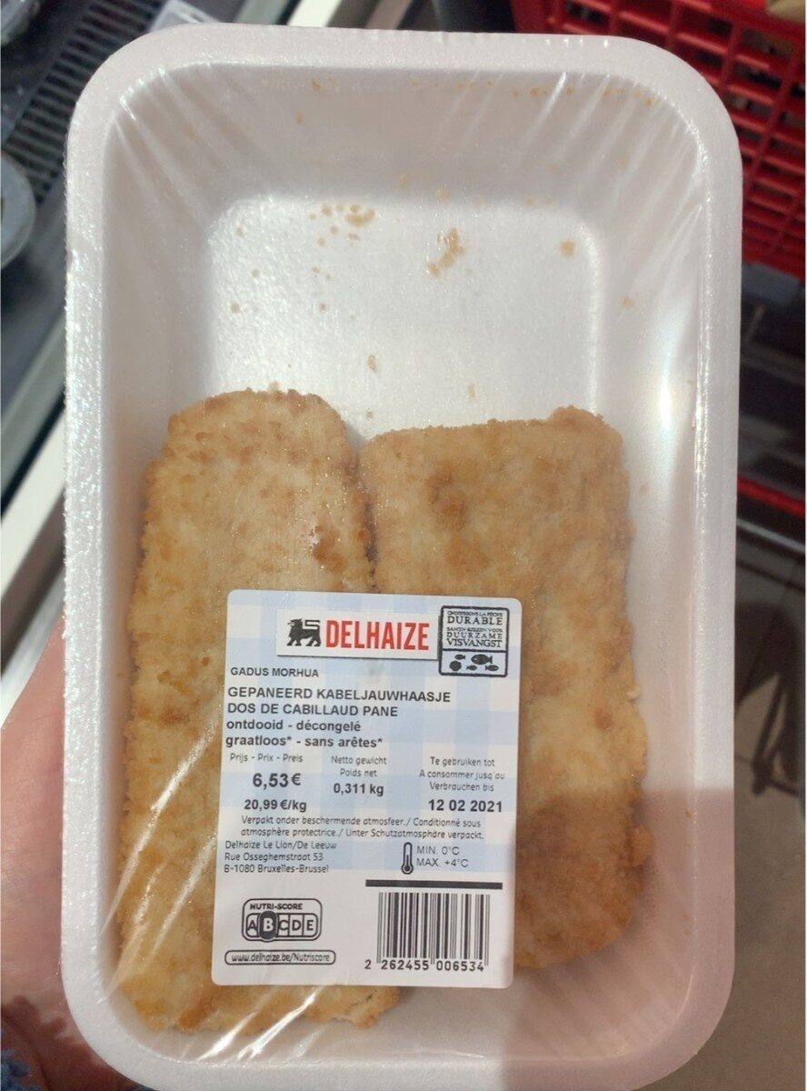 Dos de cabillaud pané - Produit - fr
