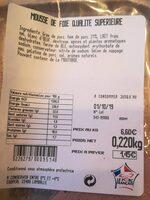 Mousse de foie qualité supérieure - Produkt - fr