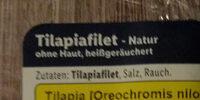 Tilapiafilet ohne Haut, heissgeräuchet - Ingredients - de