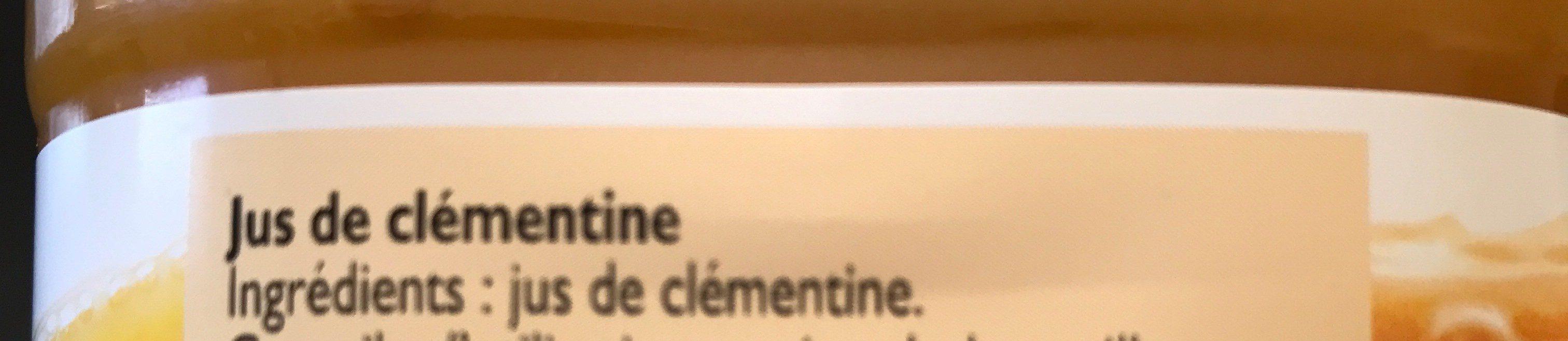 Pur jus Clémentine - Ingredienti - fr