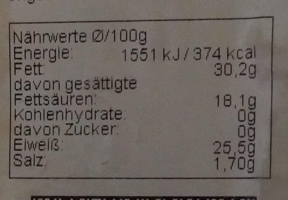 Kellergeist urig würzig - Valori nutrizionali - de