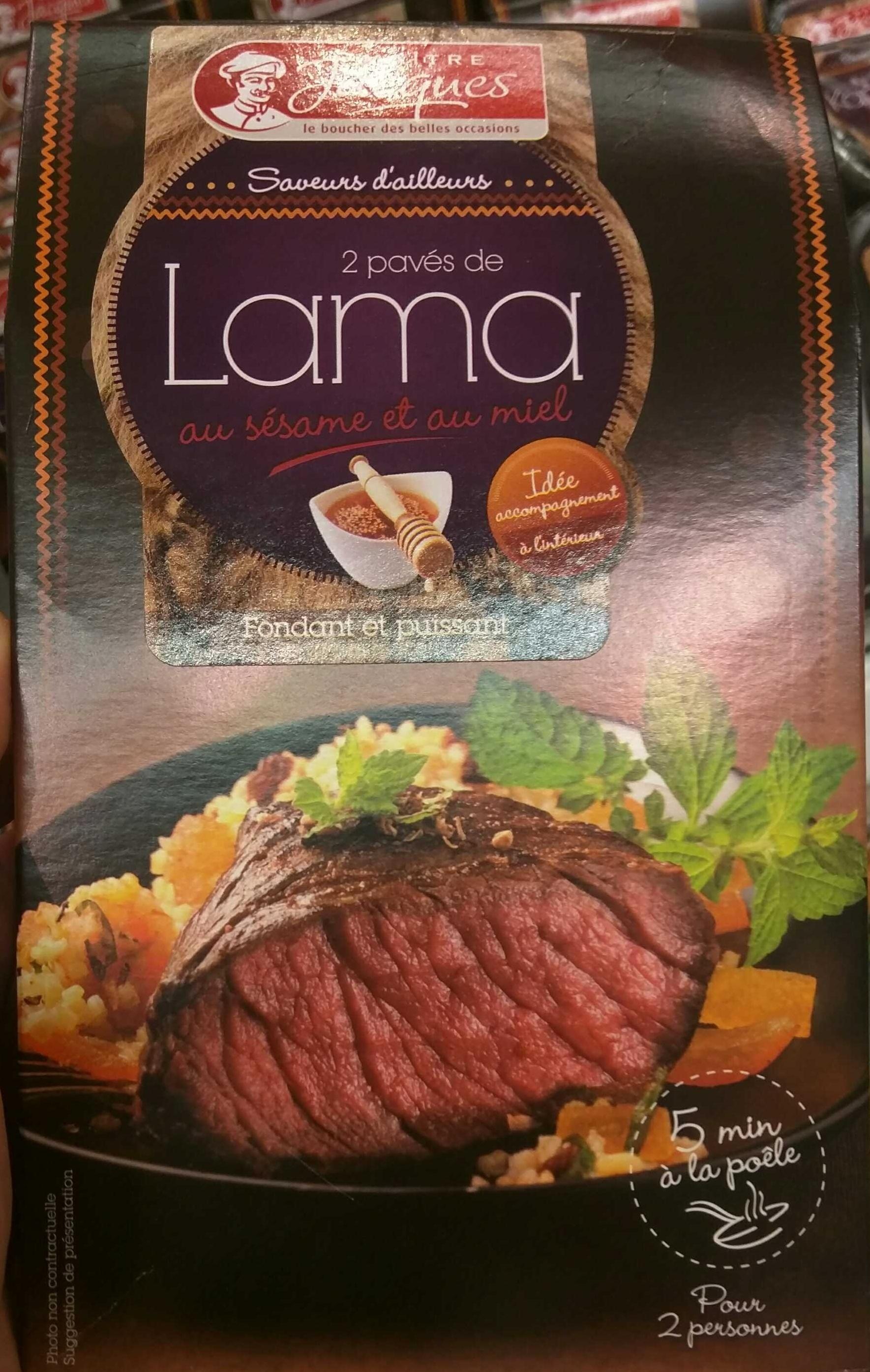 2 pavés de Lama au sésame et au miel - Produit - fr