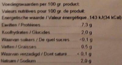 Noix de Saint-Jacques - Informations nutritionnelles - fr
