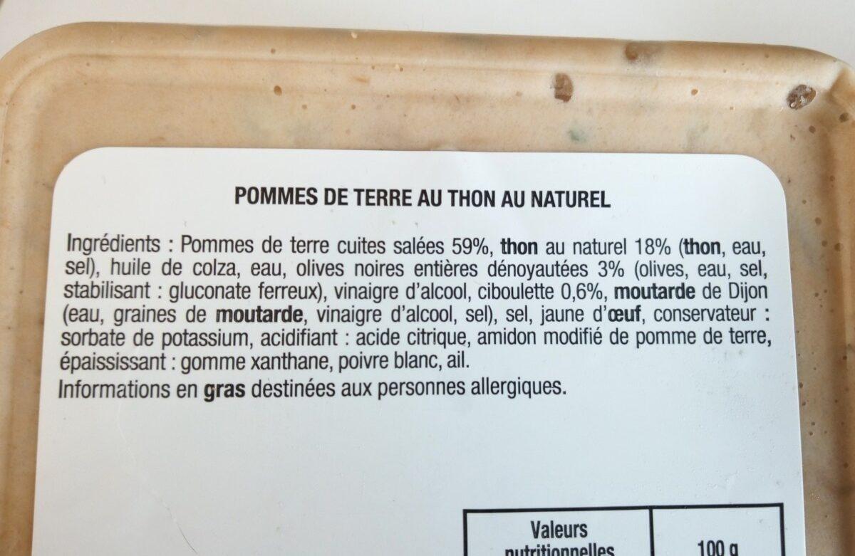 Pommes de terre au thon au naturel - Ingrediënten