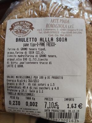 bauletto alla soia - Ingredients - it