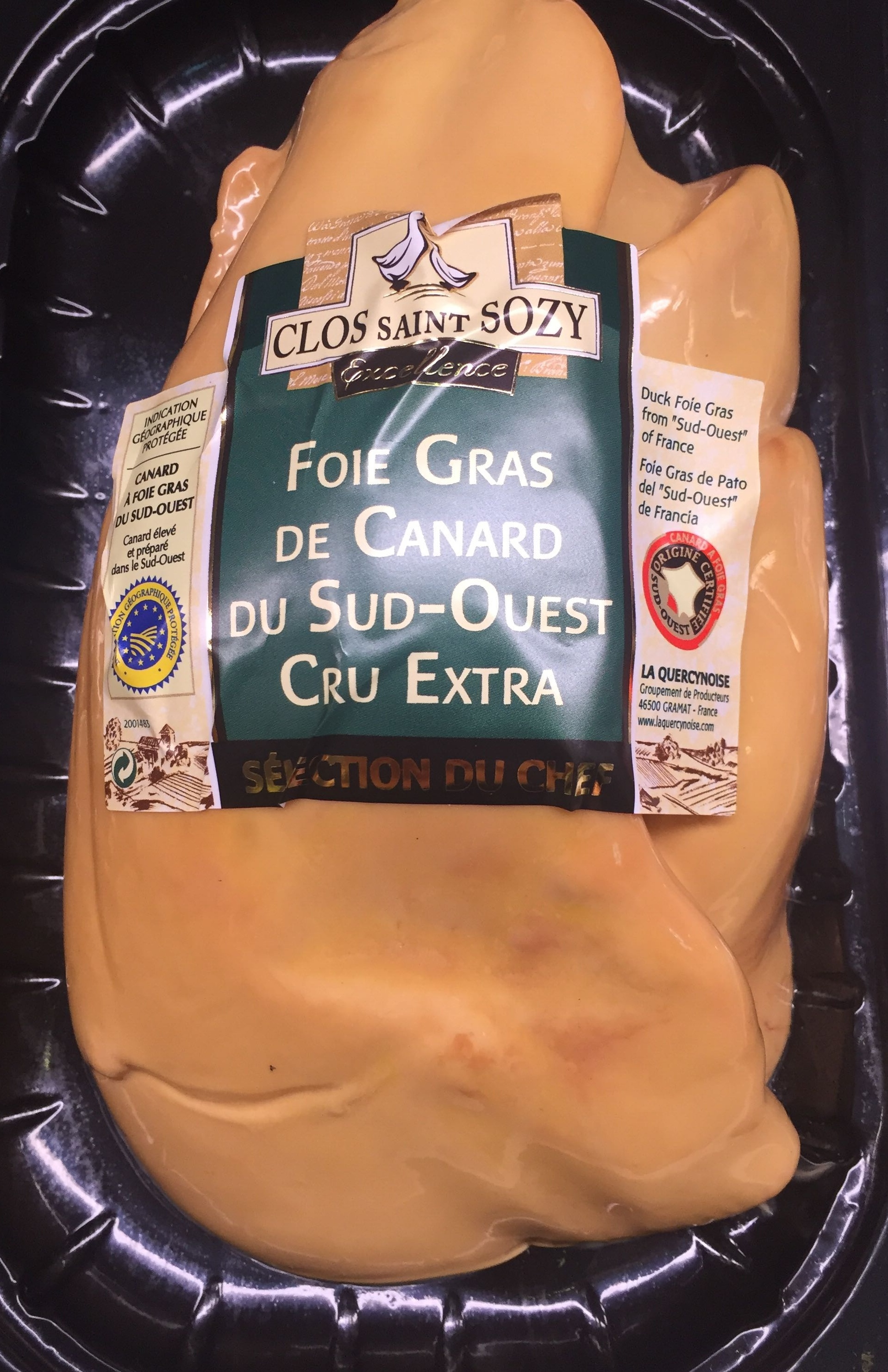Foie gras de canard du Sud-Est cru extra - Product - fr
