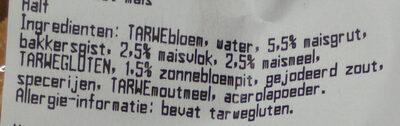 Madelaine Mais - Ingrediënten - nl