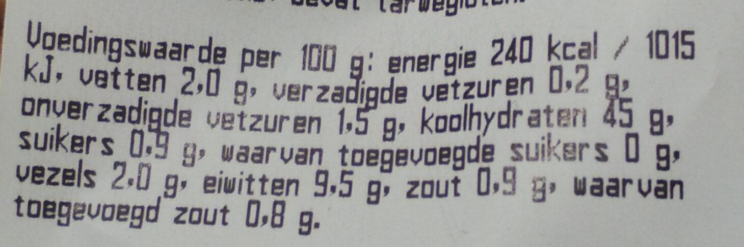 Madelaine Mais - Voedingswaarden - nl