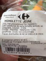 Mimolette jeune - Ingredients