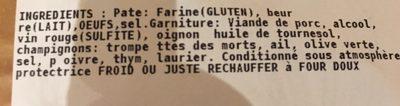 Tourte des Alpes, Spécialité Matheysine - Ingredients