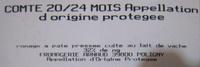 Comté 20/24 mois AOP (32% MG) -252 g - Carrefour - Ingrédients - fr