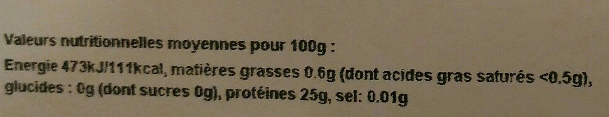 Steak Thon Albacore Frais - Voedingswaarden - fr