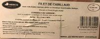 Filets de Cabillaud - Ingrediënten - fr