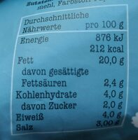 Vegane Fleischwurst - Informations nutritionnelles - de