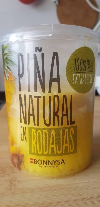 Piña natural en rodajas - Producto