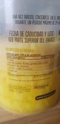 Piña natural en rodajas - Información nutricional