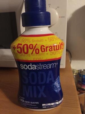 Soda mix concentré cola sans sucres - Produit