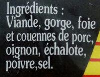 gros pâté - Ingrédients