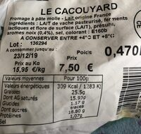Le cacouyard - Informations nutritionnelles - fr