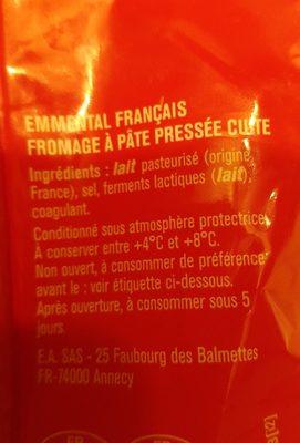 Emmental - Ingredients - fr