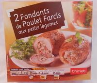 Fondants de poulet farcis aux petits légumes - Product
