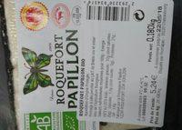 Roquefort PAPILLON BIO - Ingrédients - fr