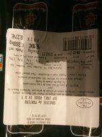 Saucisse de Morteau IGP label rouge SV x 1 - Valori nutrizionali - fr