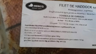 filet de haddock sous vide - Ingrediënten - fr