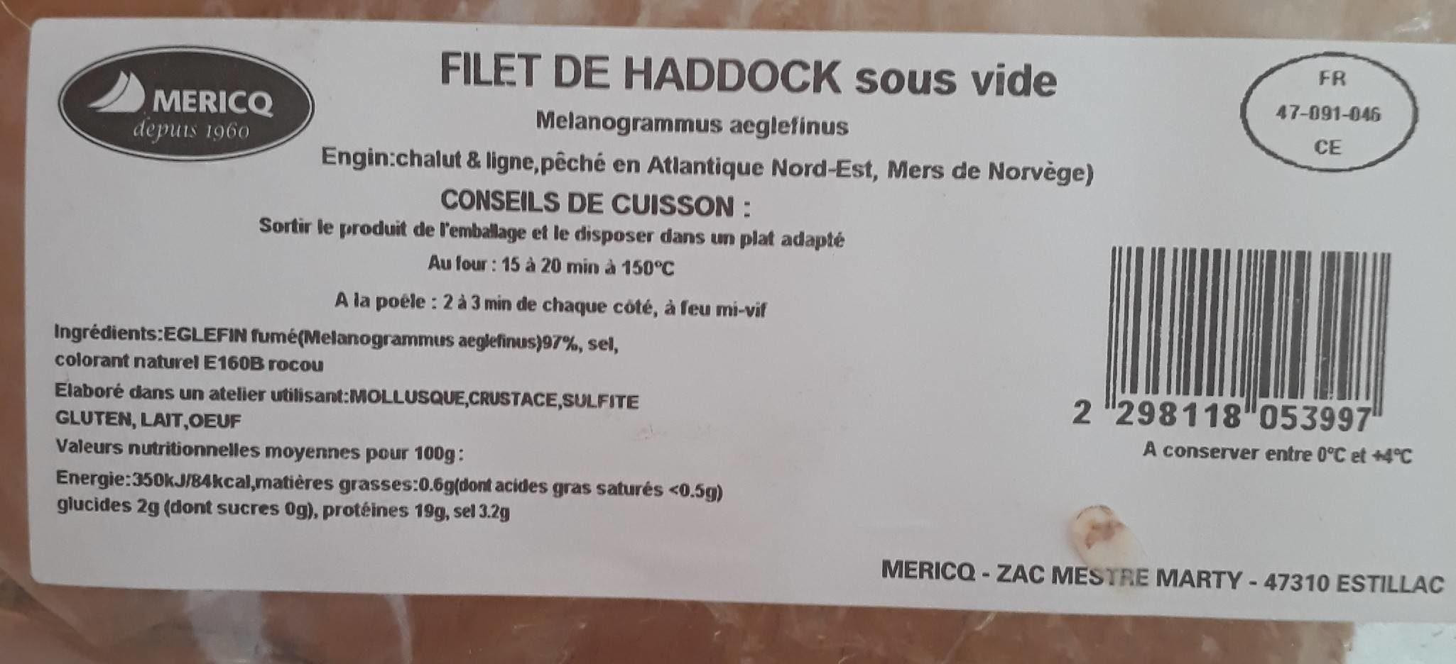 Filet de haddock - Product - fr