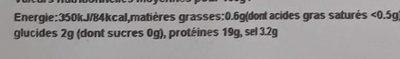 Filet de haddock - Voedingswaarden - fr