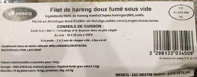 4 filets de hareng doux - Ingrediënten - fr