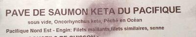 Pavé de Saumon Keta du Pacifique - Ingrediënten - fr