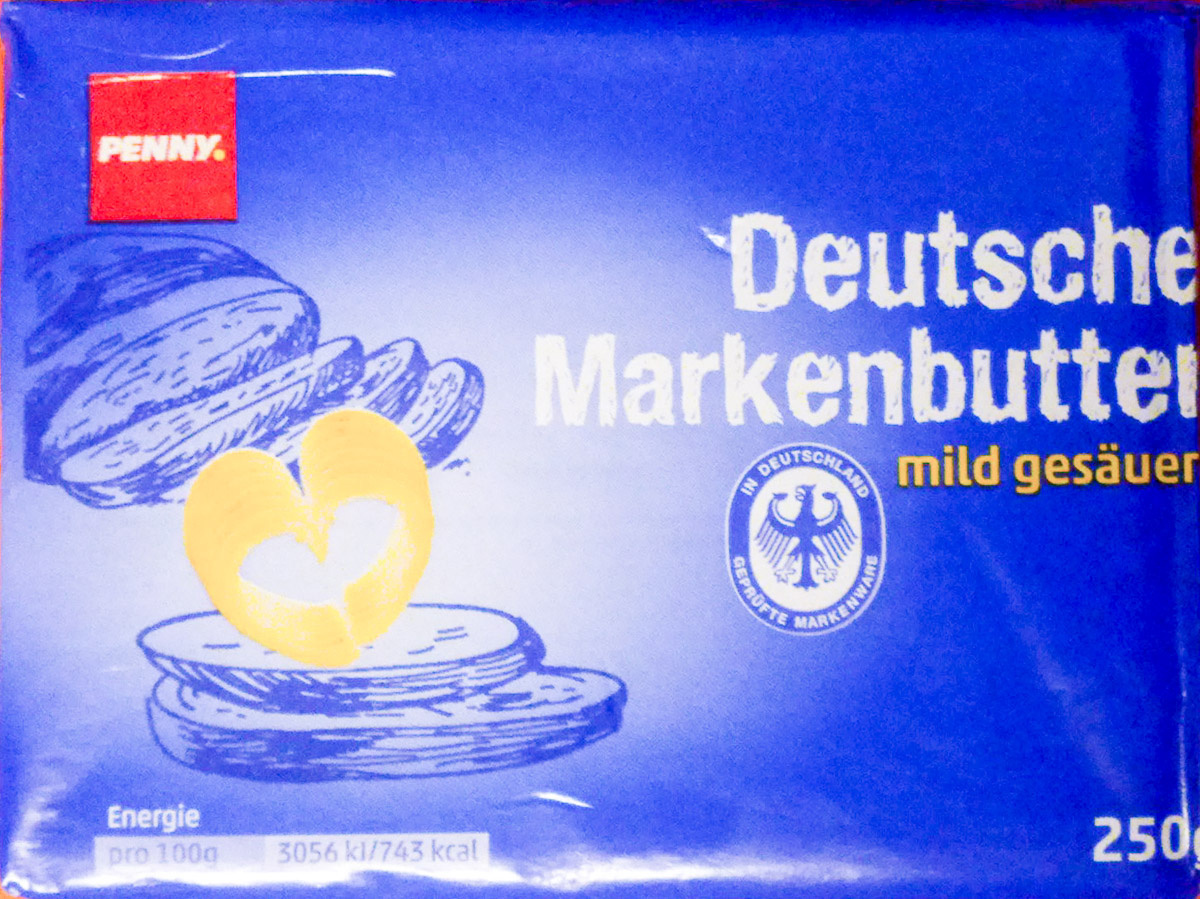 Deutsche Markenbutter mild gesäuert - Produkt - de